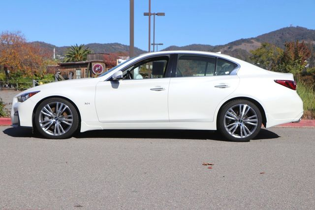 2018 INFINITI Q50 SPORT 4D SEDAN Front Sport Seats Sport Leather-Appointed Seating Surfaces Radi