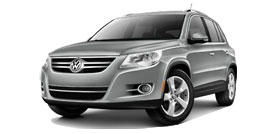 Volkswagen Tiguan With Sunroof and Navigation SE