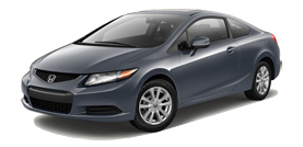 Chula Vista Honda: 2012 Civic Coupe Automatic with Leather EX-L