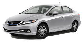 Mahwah Honda - 2013 Honda Civic Hybrid With Leather and Navigation Base