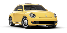 2013 Volkswagen Beetle With Sunroof 2.5L