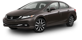 2015 Honda Civic Sedan With Leather and Navigation EX-L