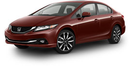 2015 Honda Civic Sedan With Leather and Navigation PZEV EX-L