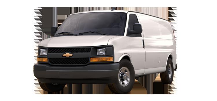 2017 Chevrolet Express 2500 Work Van 3D Extended Cargo Van