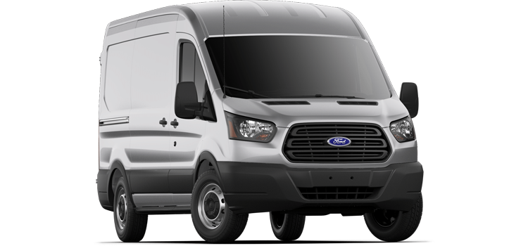 2019 Ford Transit Van Dual Sliding, 130 WB 150 Medium Roof