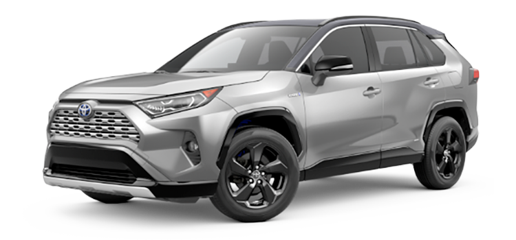 2020 Toyota Rav4 Hybrid Xse 5 Door Awd Suv Options