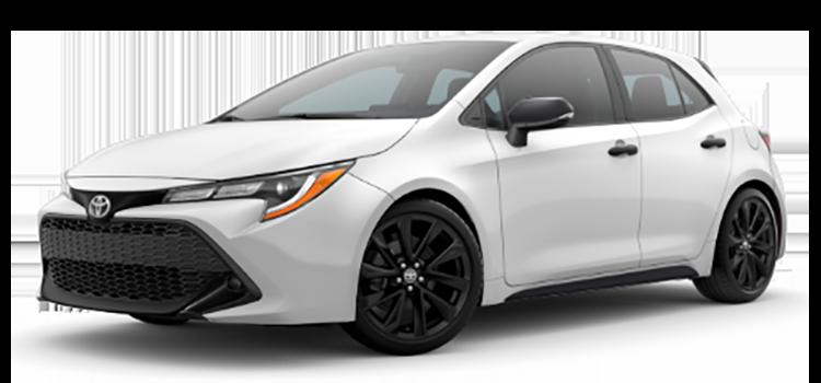 2020 Toyota Corolla Hatchback Se Nightshade Edition 5 Door Fwd Hatchback C Colorsoptionsbuild